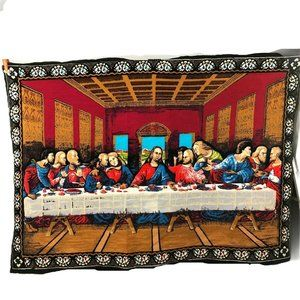 The Lord Last Supper Painting Fabric Canvas Wall